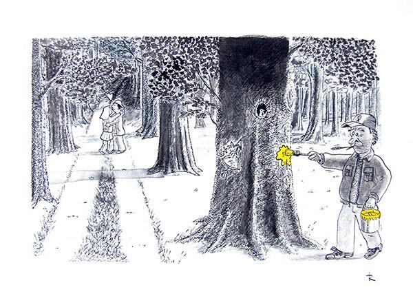 Prille Liefde Cartoon Liefde Natuur Relaties