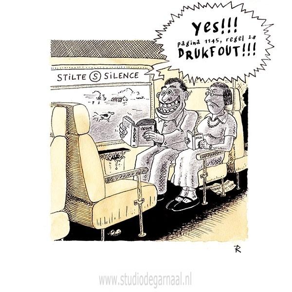 Stiltecoupé Cartoon Mannen Verkeer