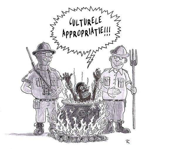 Culturele Appropriatie Cartoon Multiculti Politiek Voeding