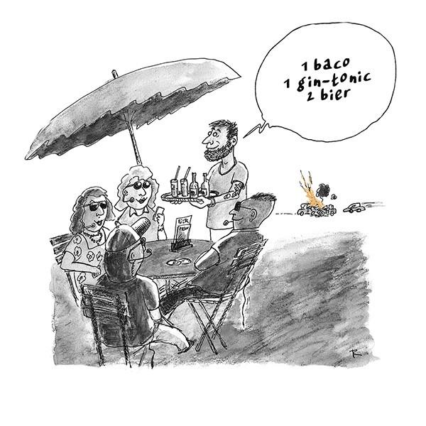 112 Antwoordt Niet... Cartoon Criminaliteit Horeca Ongelukken