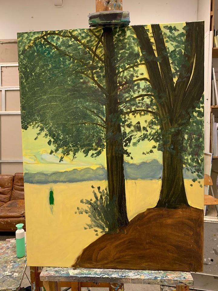 Woeste Gronden Schilderijen waar ik nog aan werk