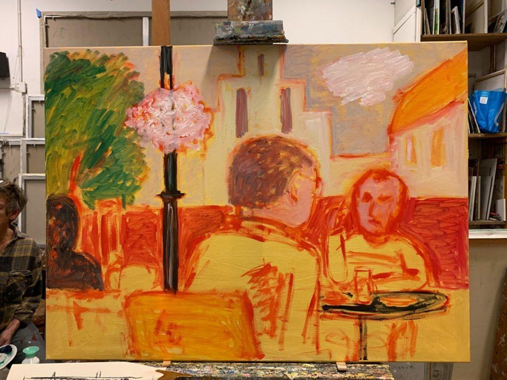 Café Springhaver Schilderijen waar ik nog aan werk