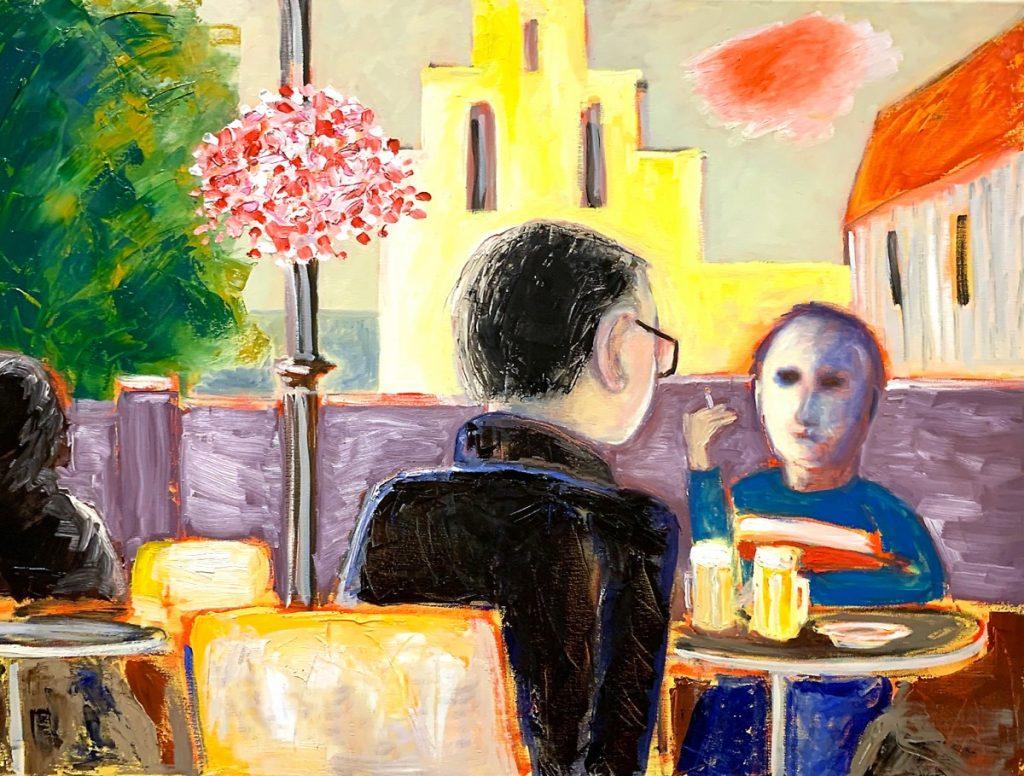 Café Springhaver Schilderij