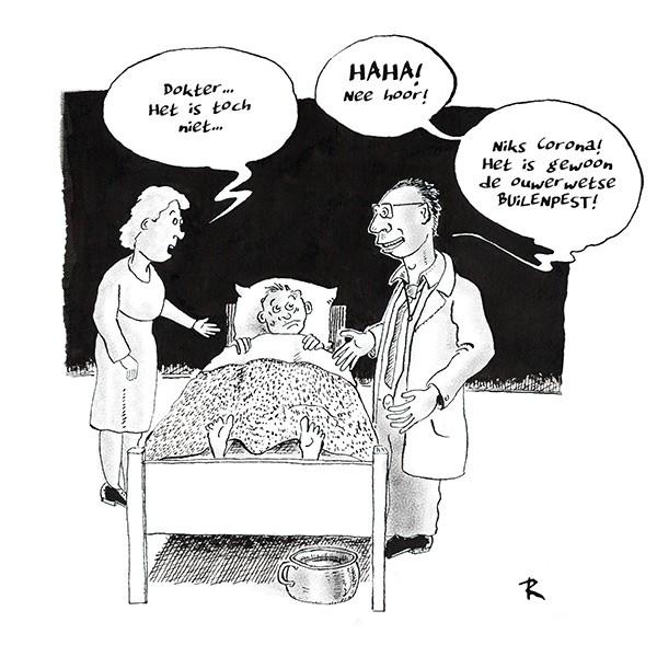 Coronagriepaniek Cartoon Medisch Ziekte