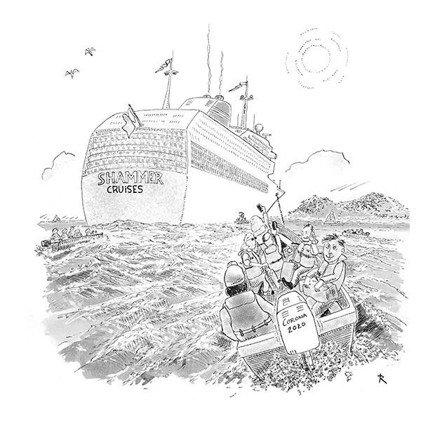 Maximeer je vakantiedagensaldo! Cartoon Medisch Reizen Vakantie Ziekte