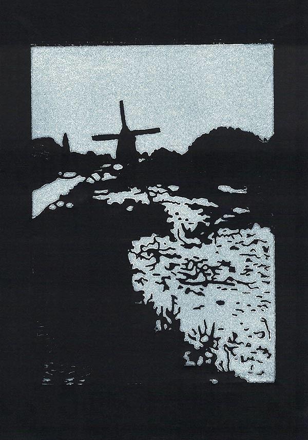 Poldermolen Linoprint