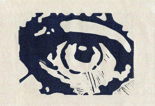 Mijn Oog Linoprint