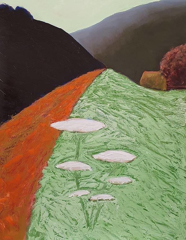 Bermbloemen Schilderij