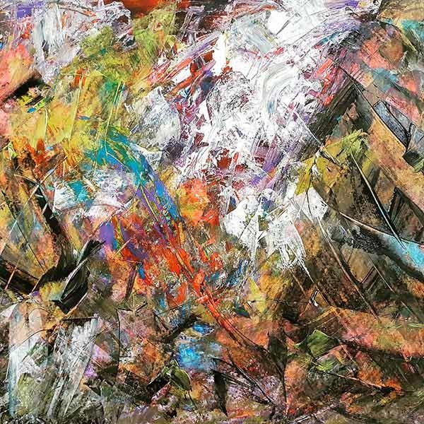 Abstract 1 Schilderij