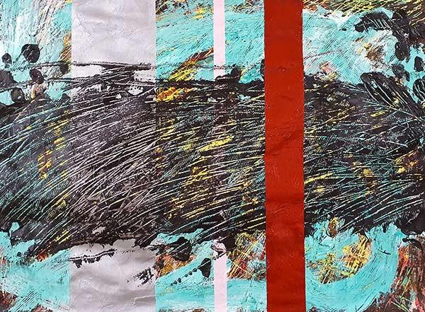 Abstract 6 Schilderij