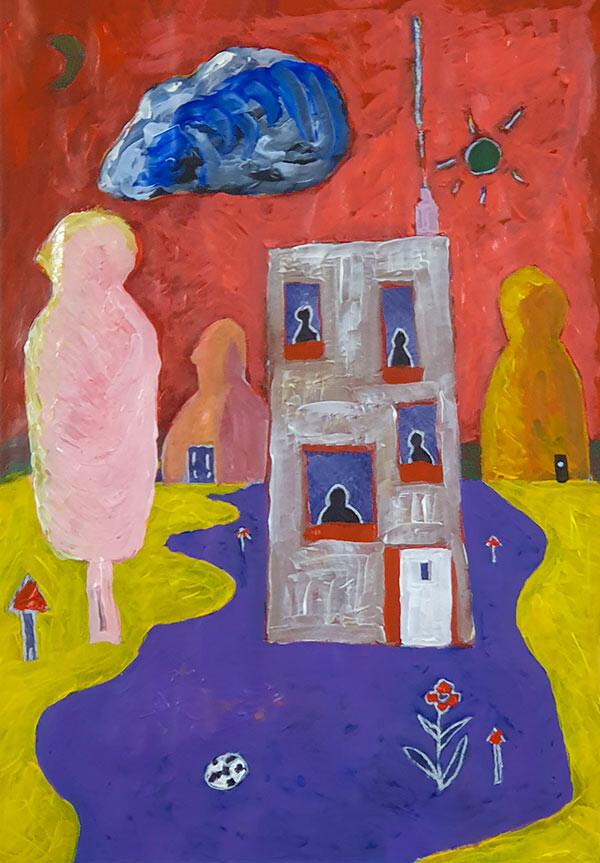 De Ramen Schilderij